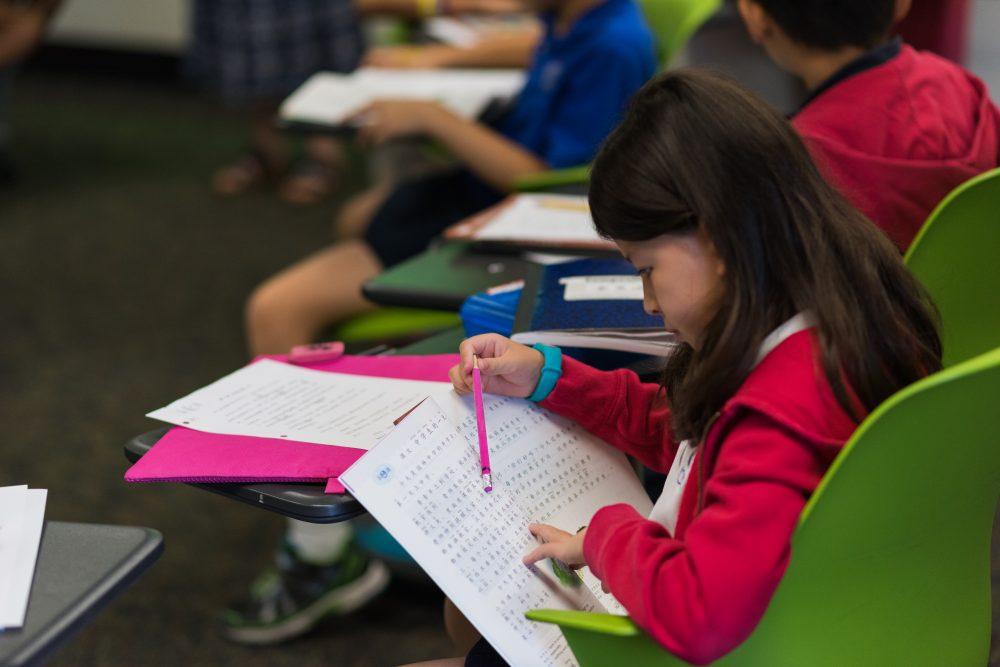 YCIS - Student reading