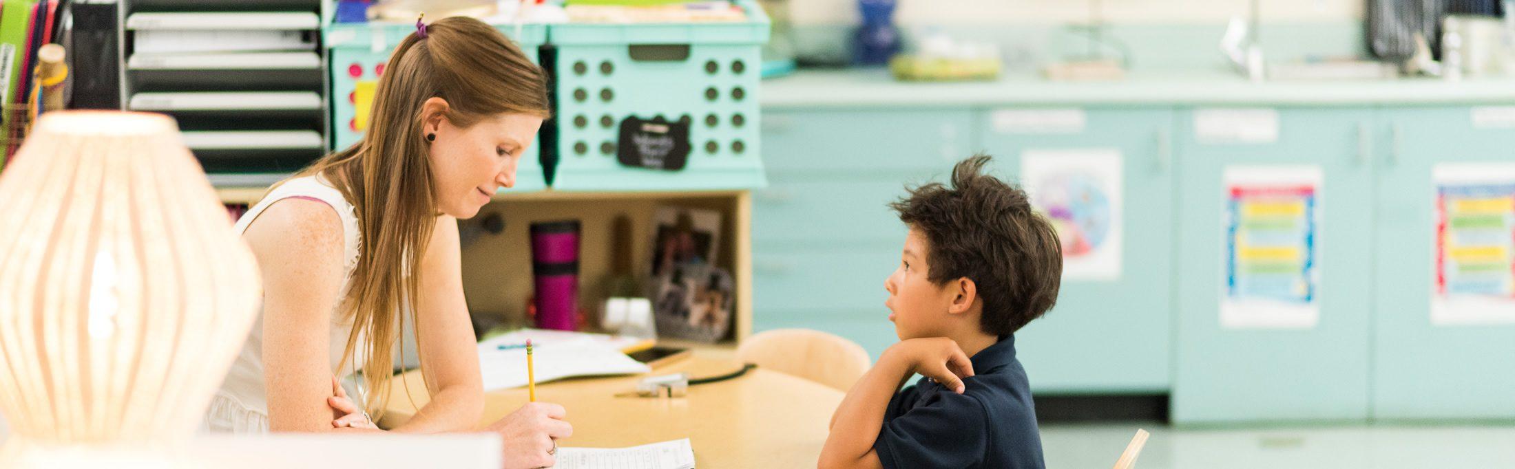 Teach and student