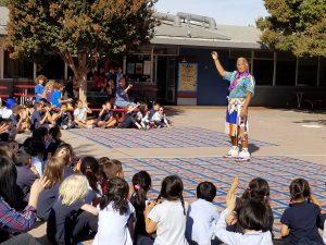 children at school event